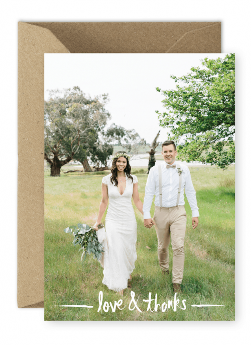 Rustic Wedding Photo Thank You Cards Madeleine Chiller Photography For the Love of Stationery