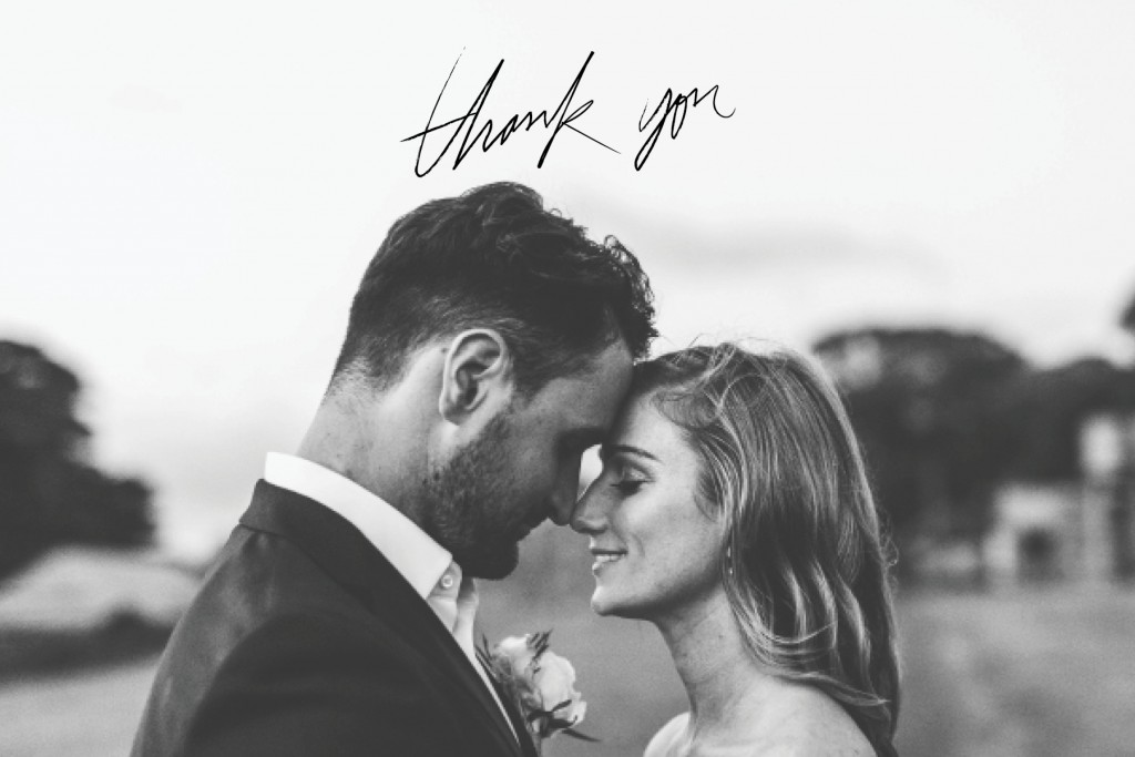 Rustic Wedding Thank You Card For the Love of Stationery Zoe Morley Photography