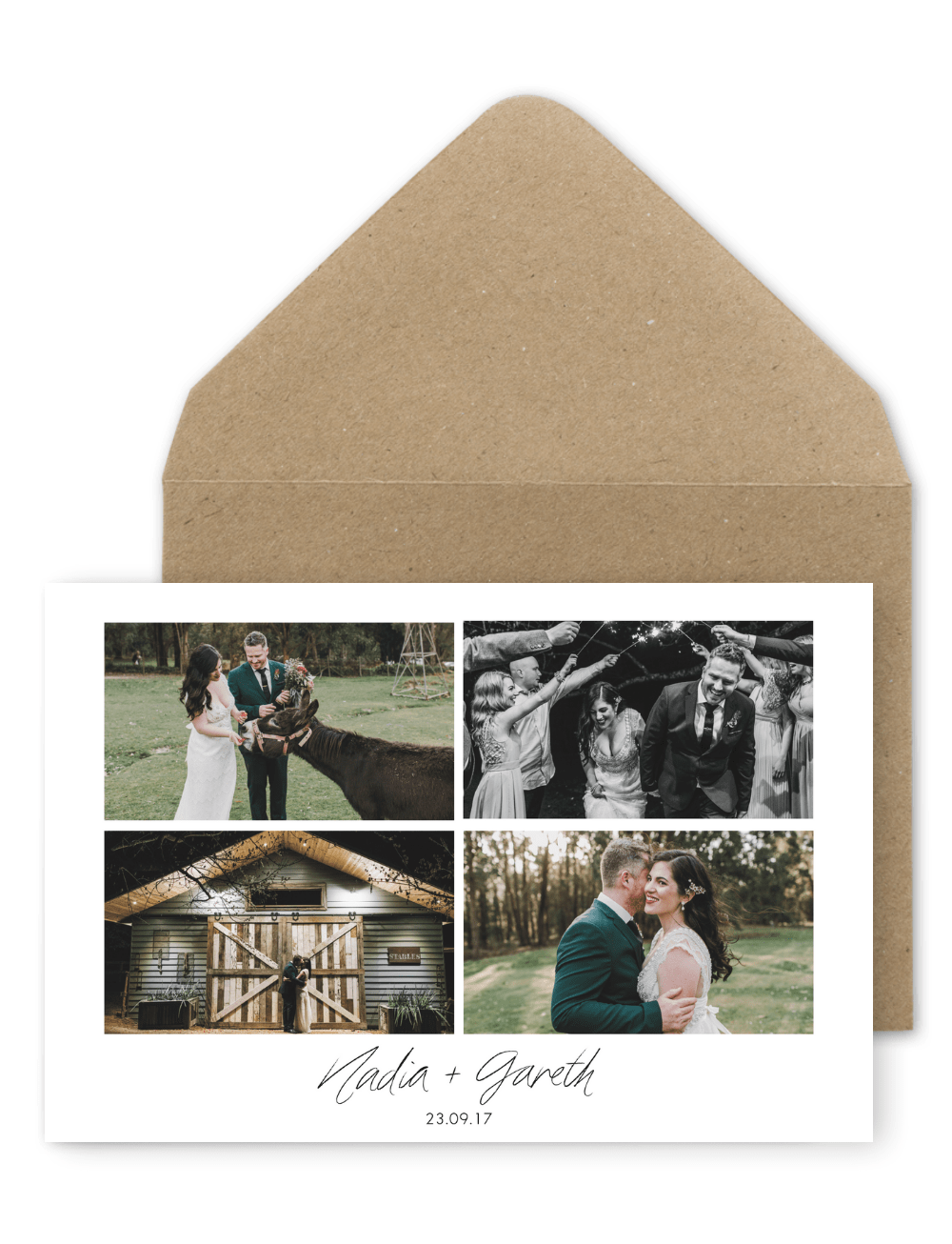 Rustic Wedding Thank You Card with Photo For the Love of Stationery Anitra Wells Weddings