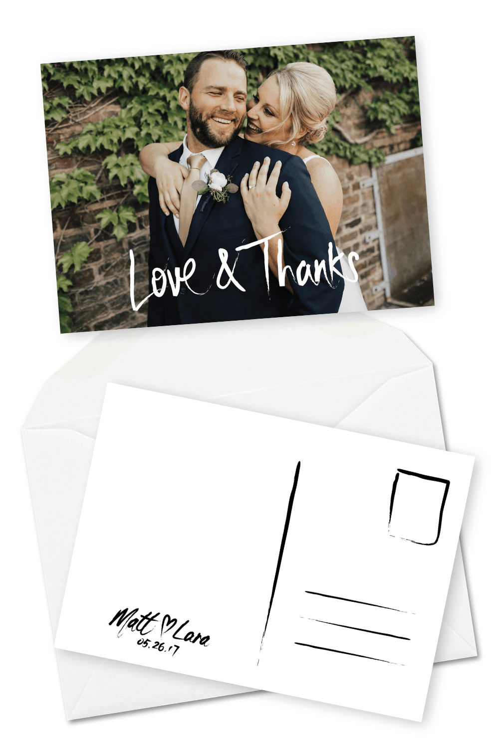 Rustic Wedding Thank You Card with Photo For the Love of Stationery Ben Ramos Photos