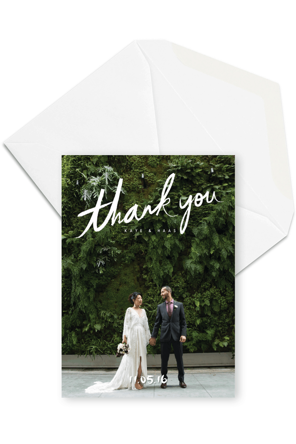 Rustic Wedding Thank You Card with Photo For the Love of Stationery Sarah Peet Photography