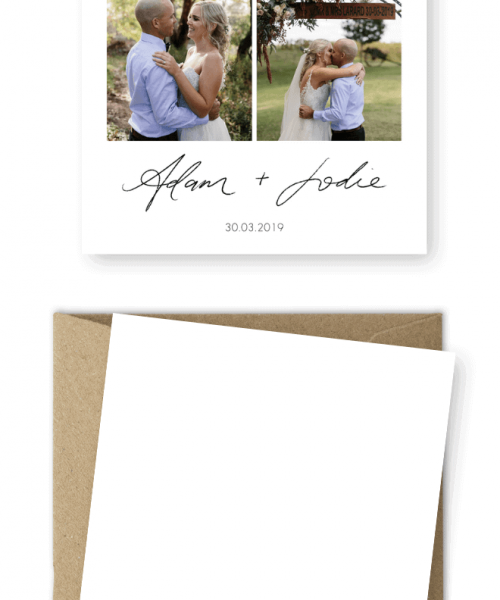 Rustic Wedding Thank You Cards with Photos Erin Latimore Photography For the Love of Stationery