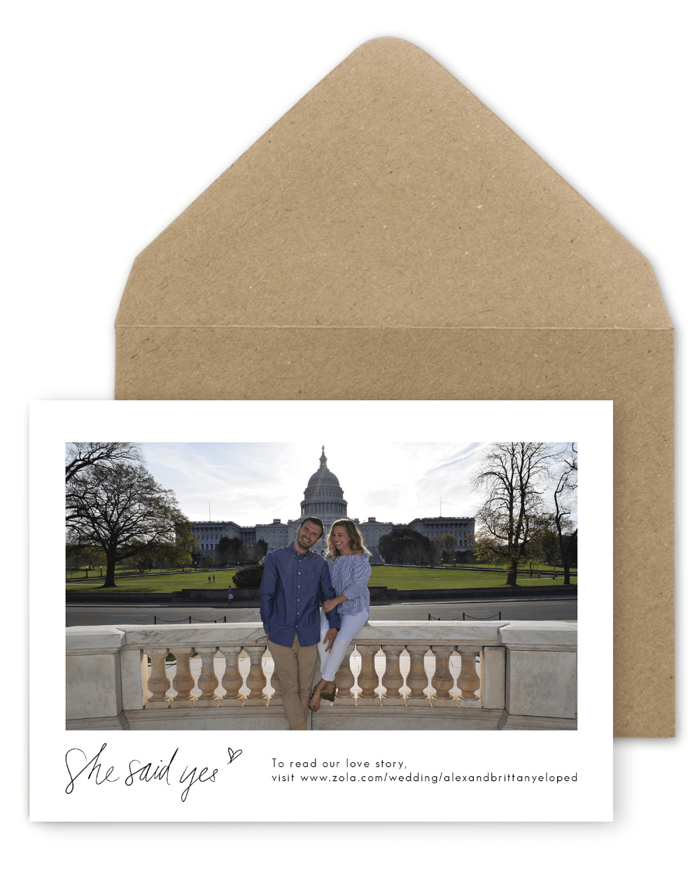 Save the Dates Wedding Photo Save the Date Postcards For the Love of Stationery