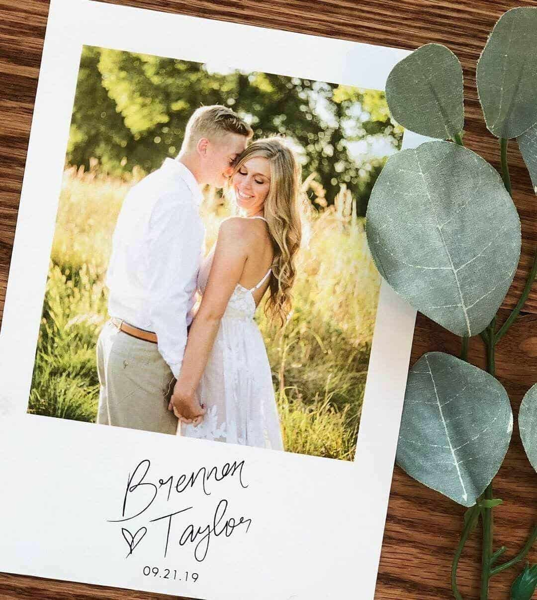 Save the Dates with Photo Wedding Invitations For the Love of Stationery Ivory and Bliss Photography