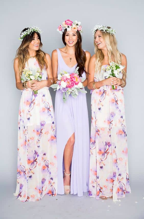 Show Me Your Mumu Bridesmaid Floral Dress Summer Spring Wedding Ideas