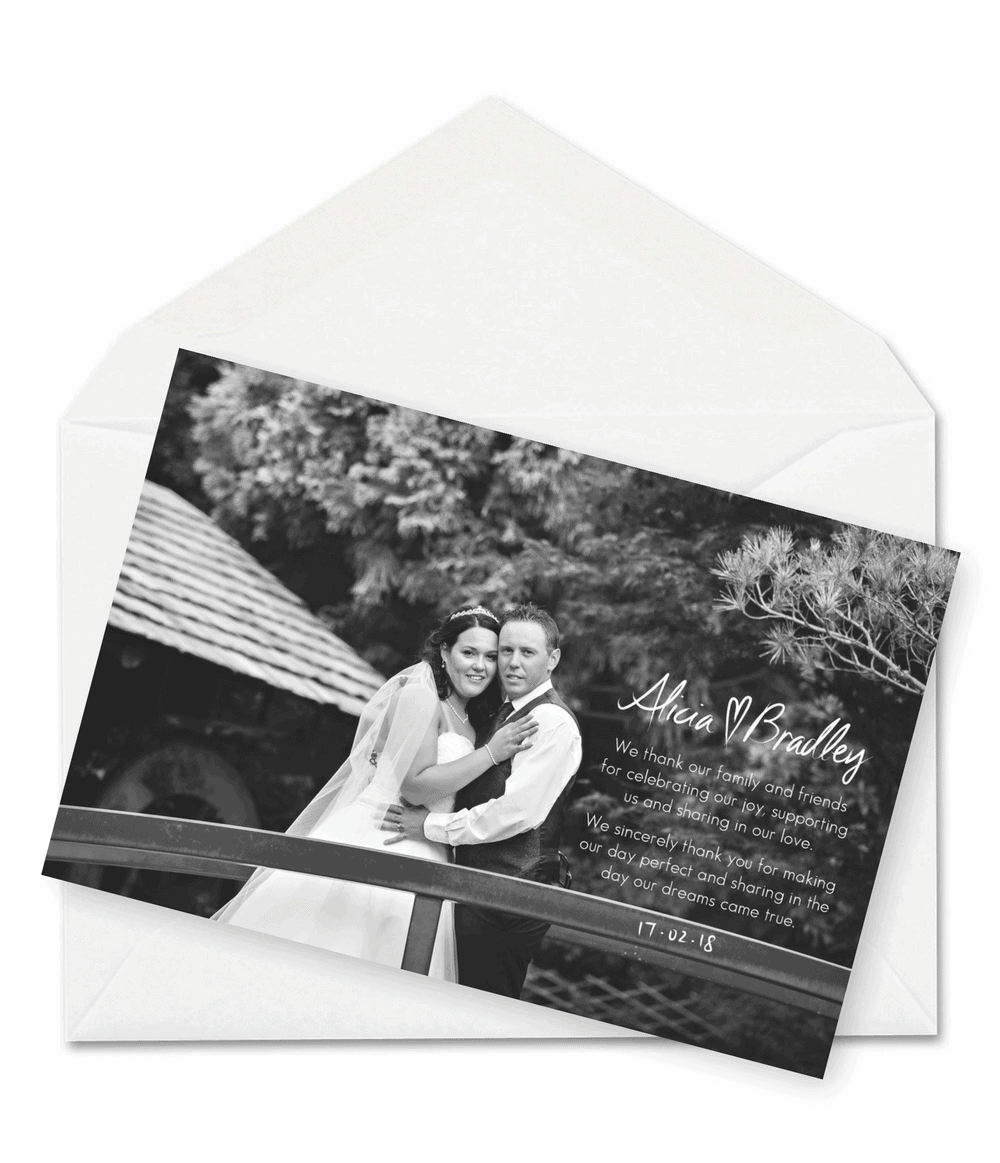 9 Wording Examples For Your Wedding Thank You Cards