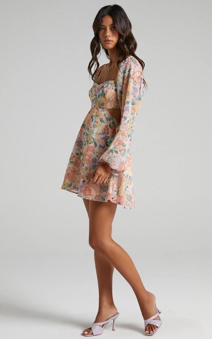 Summer Dresses for the Beach Summer Outfits Floral Cut Out Sweetheart Showpo