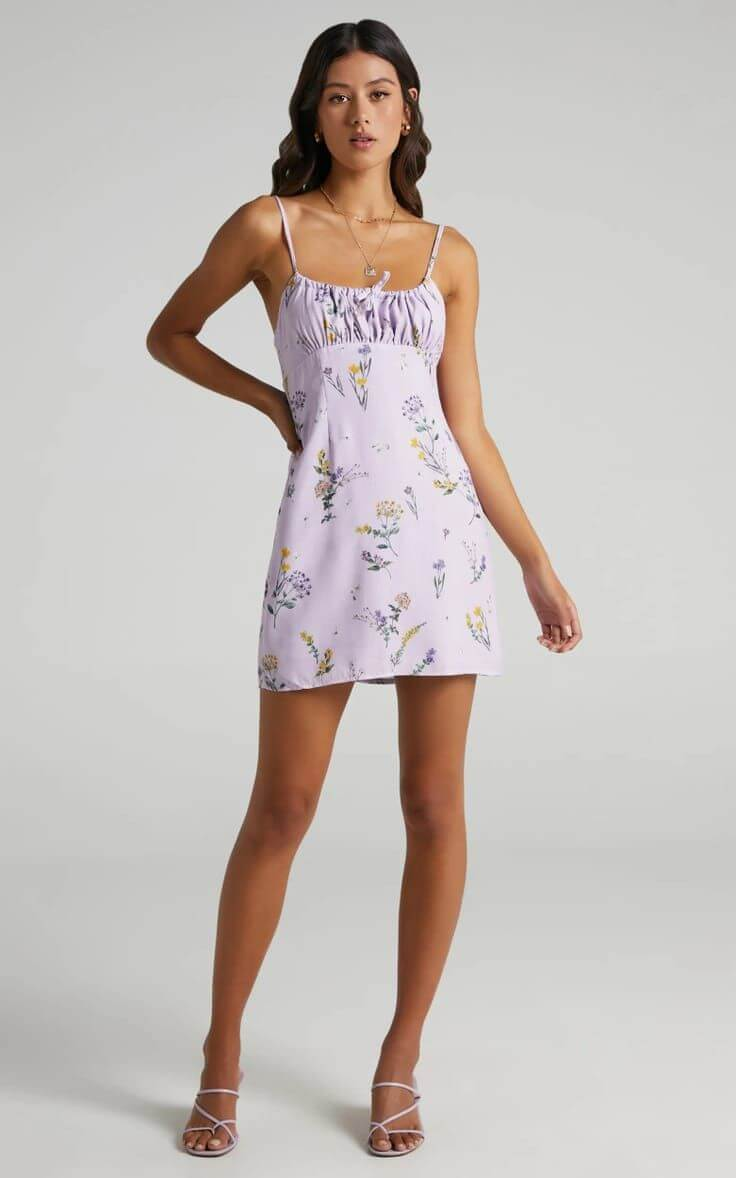 Summer Dresses for the Beach Summer Outfits Floral Print Lavender Showpo