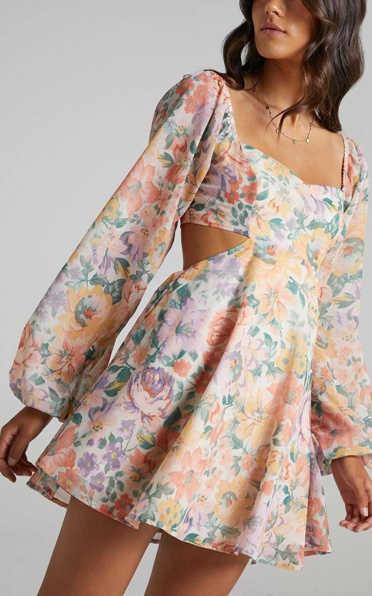 Summer Outfits for the Beach Summer Dresses Floral Cut Out Sweetheart Showpo