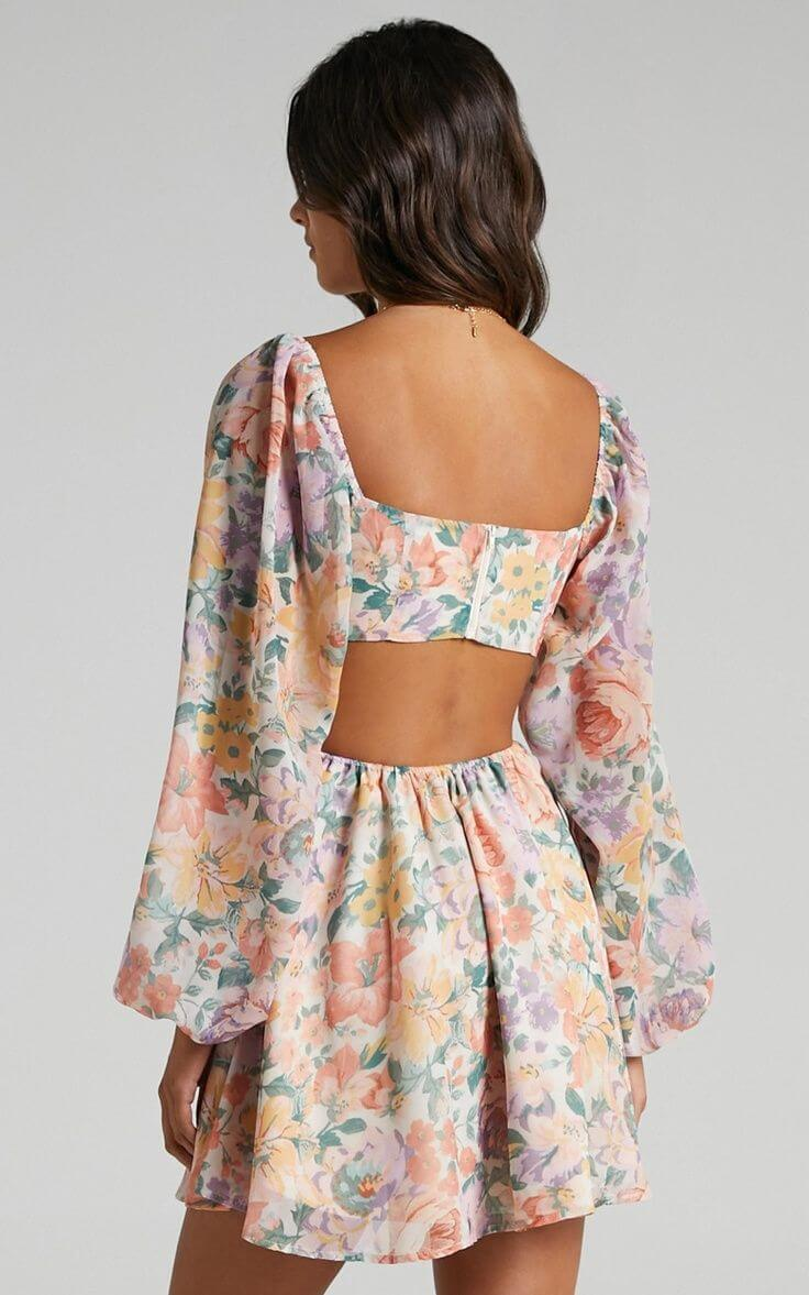 Summer Outfits for the Beach Summer Dresses Floral Sweetheart Open Back Showpo
