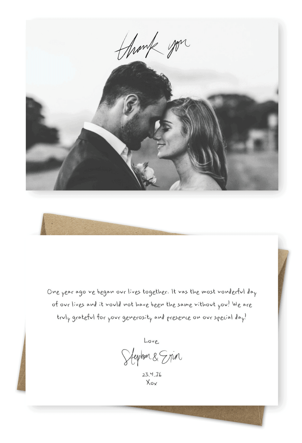 thank you card wedding wording ideas 2