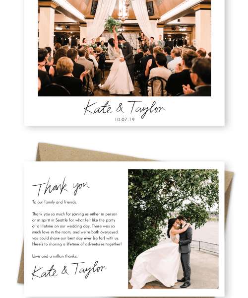 Thank You for Attending Our Wedding Message Wedding Thank You Messages from Bride and Groom Julia Kinnunen Photography For the Love of Stationery