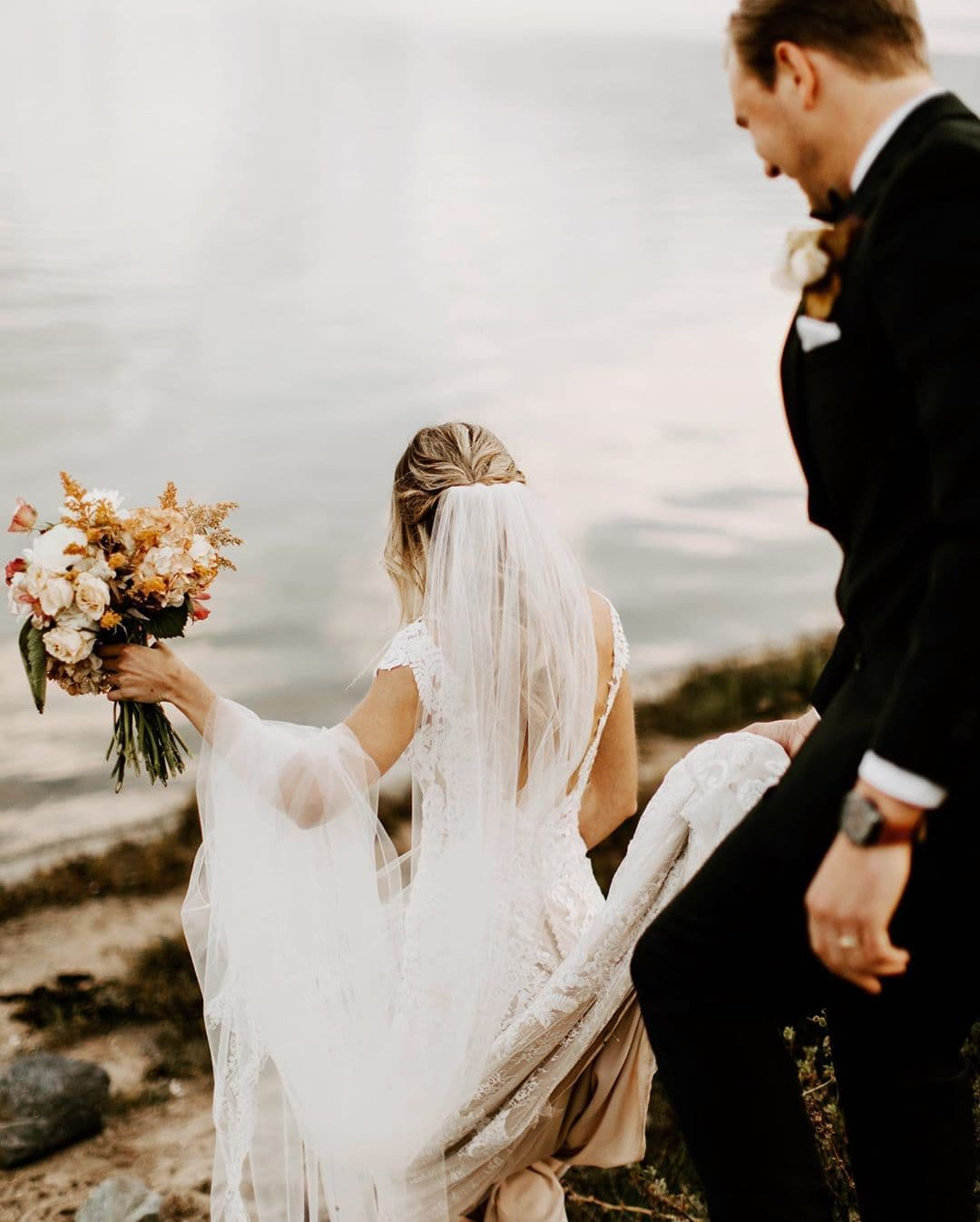 Vintage Inspired Wedding Dresses Lace Sequin Backless Bohemian Bridal Gowns Amazonas Photography BHLDN