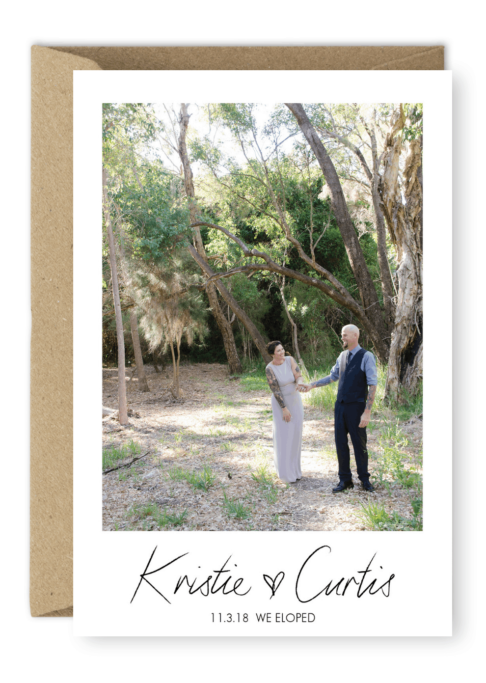 We Eloped Elopement Announcement Destination Wedding For the Love of Stationery Victoria Devine Photography