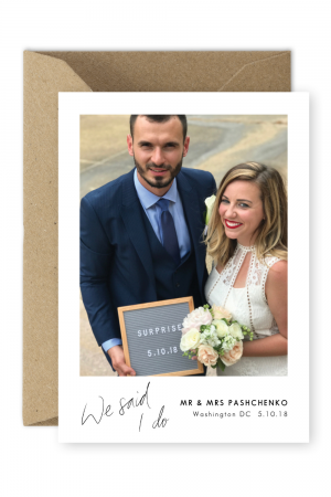 Wedding Announcement Surprise Elopement Announcement Cards For the Love of Stationery