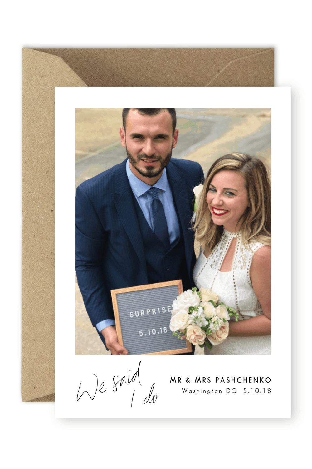 brides are going crazy for these elopement announcements for the