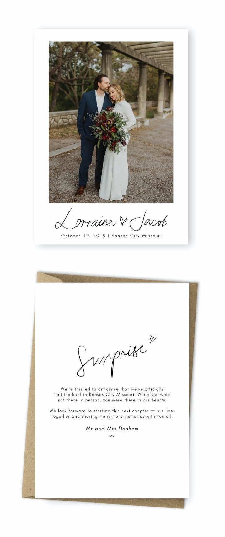 Wedding Announcement Verbiage Ideas Morgan Barrett Photography For the Love of Stationery