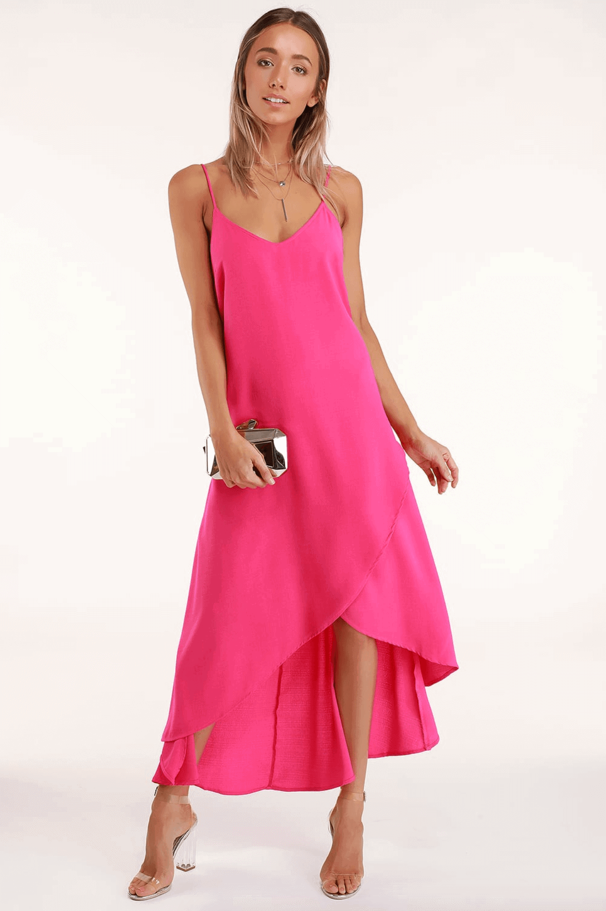 Wedding Guest Outfits Bright Pink Maxi Dress What to Wear to a Wedding as a Guest