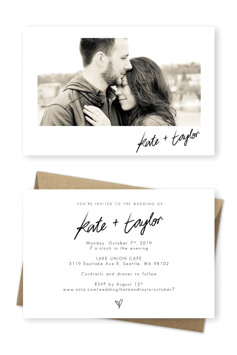 Wedding Invitations Cards Online Photo Wedding Invites Pamela S. Photography For the Love of Stationery