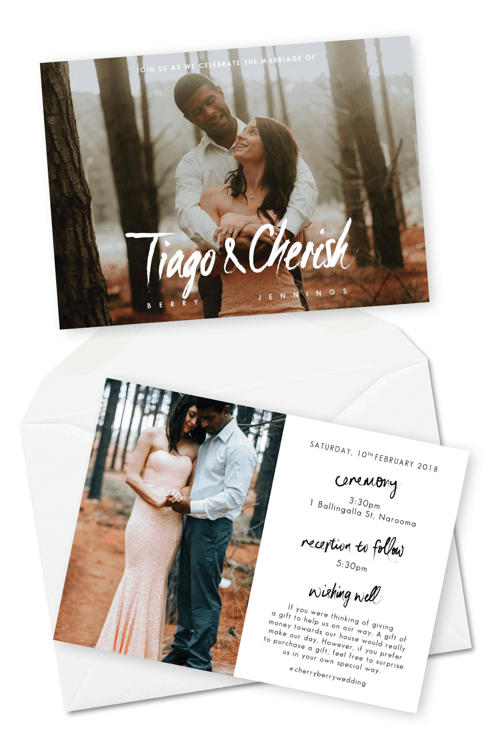 Wedding Invitations Engagement Photos Hayley Jade Photography For the Love of Stationery