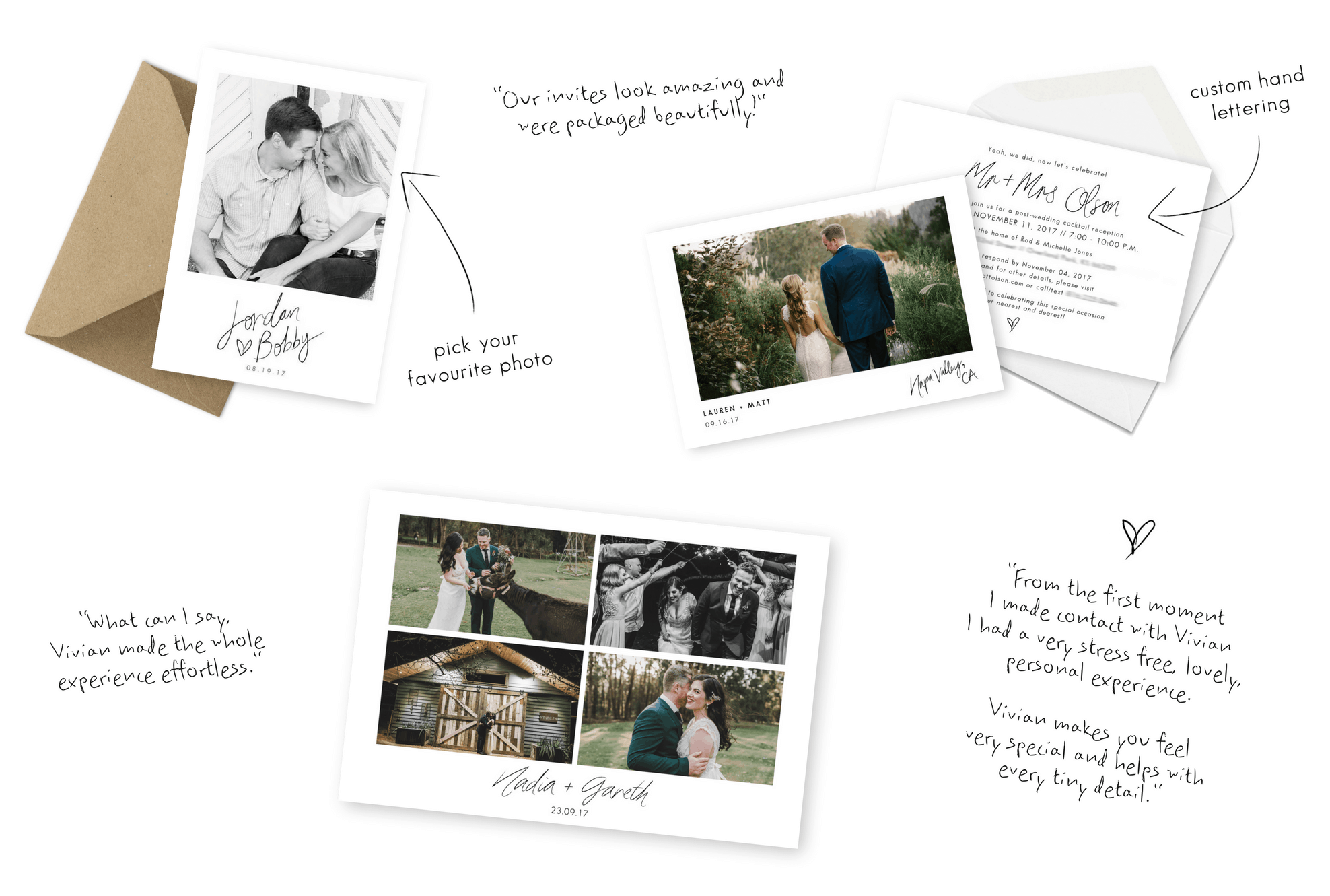 Wedding Invitations Save the Dates Sydney Thank You Cards Elopement Announcement For the Love of Stationery