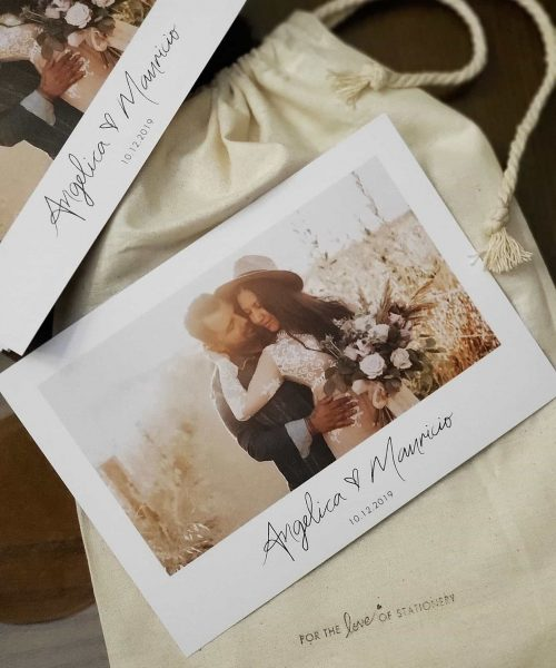 Wedding Invitations with Photos For the Love of Stationery Jasmine Jeanette Elopement Photographer