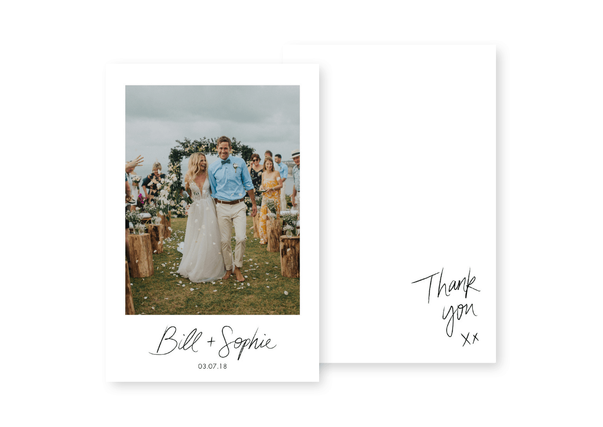 Wedding Photo Thank You Cards Sydney Australia For the Love of Stationery