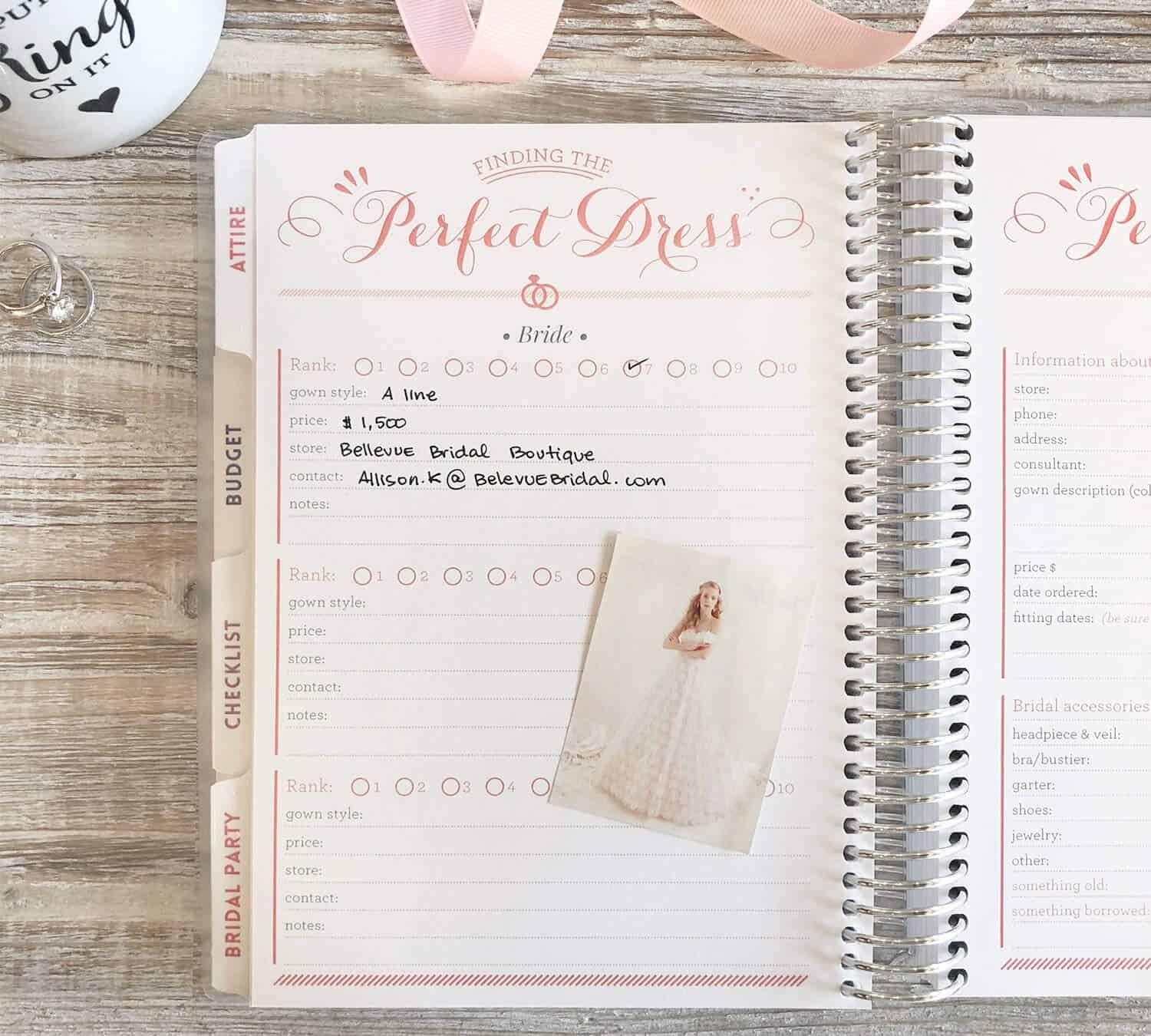 Wedding Planner Books and Organizers for Brides Engagement Gift Bridal Planner Forever and Always