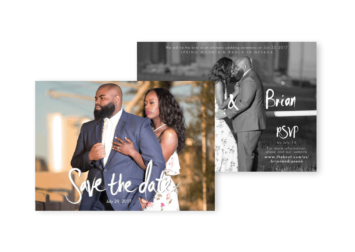 Wedding Save the Date Cards Photo Save the Date Postcards For the Love of Stationery