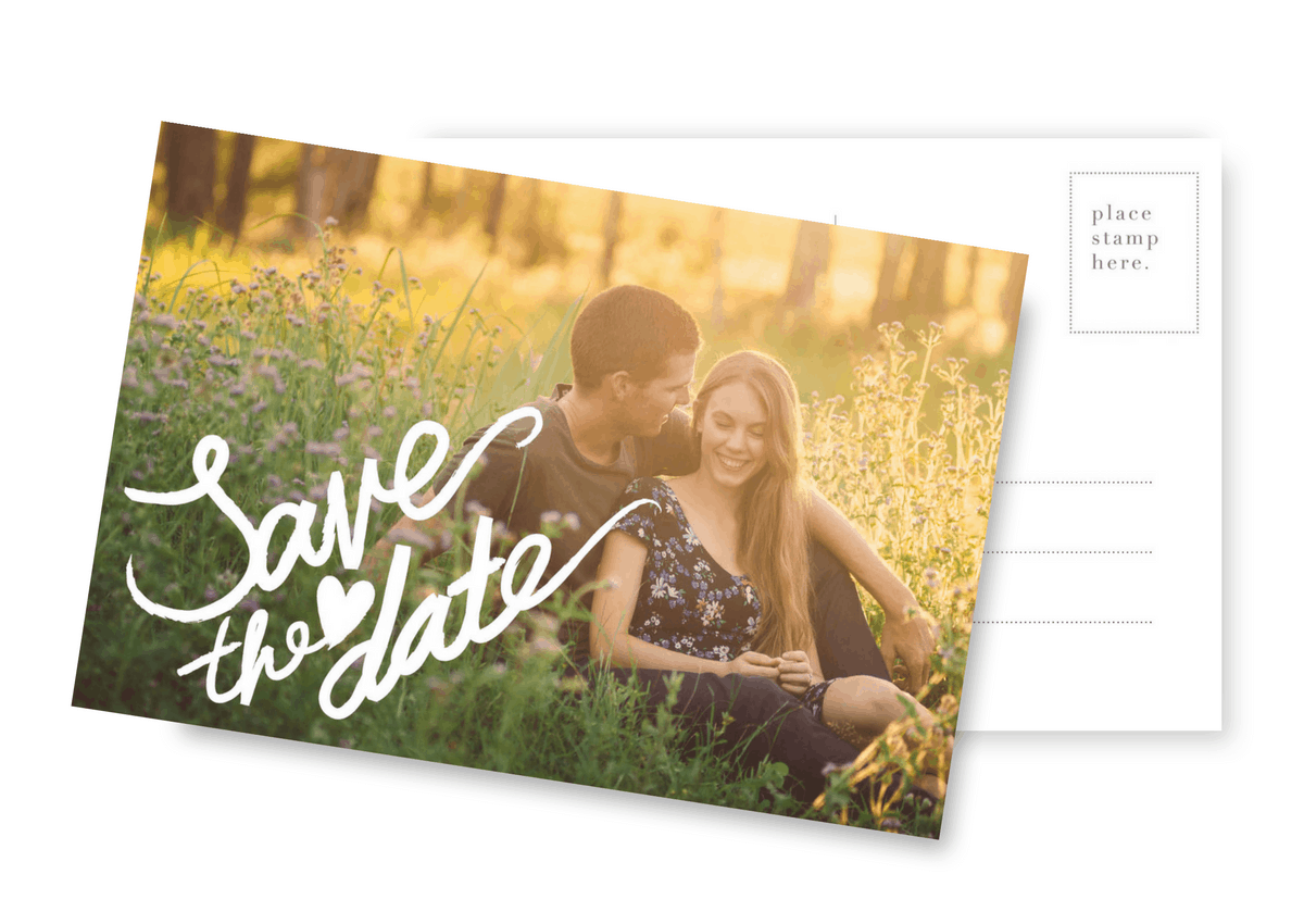 Wedding Save the Date Photo Postcard