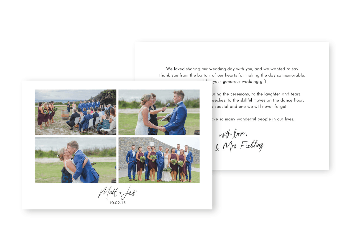 Wedding Thank You Card Photos Sydney Australia For the Love of Stationery