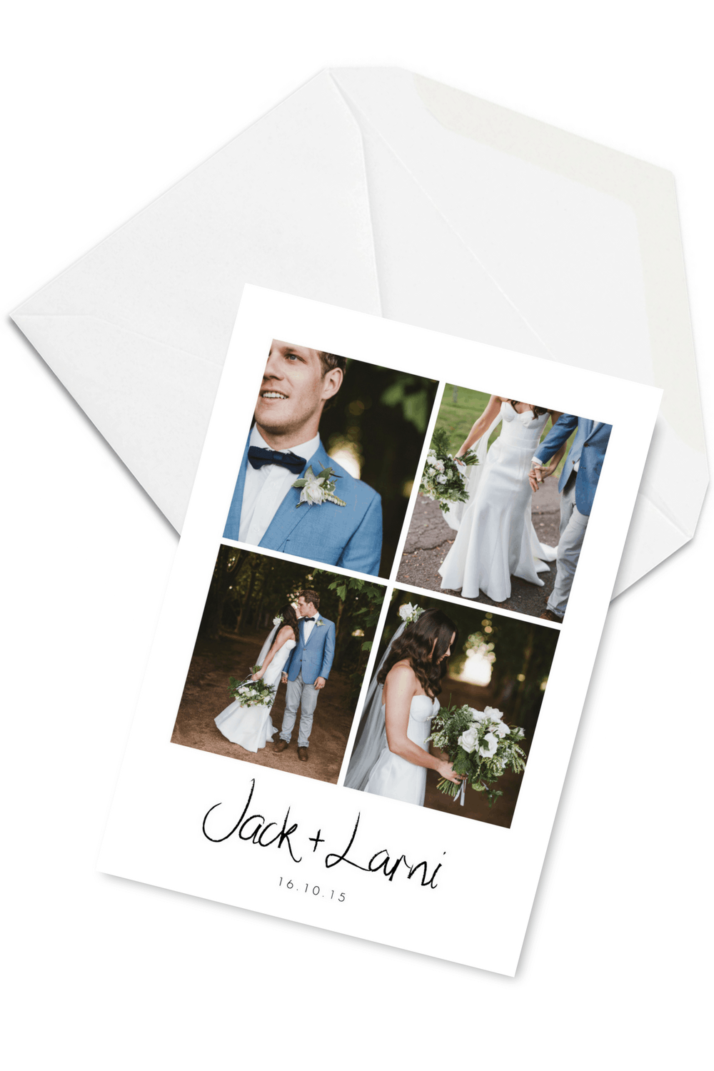 Wedding Thank You Card Simple Minimalistic