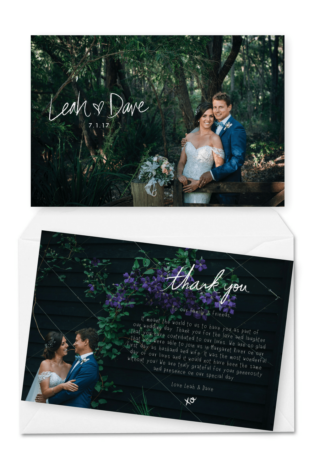 wedding thank you cards wording examples note