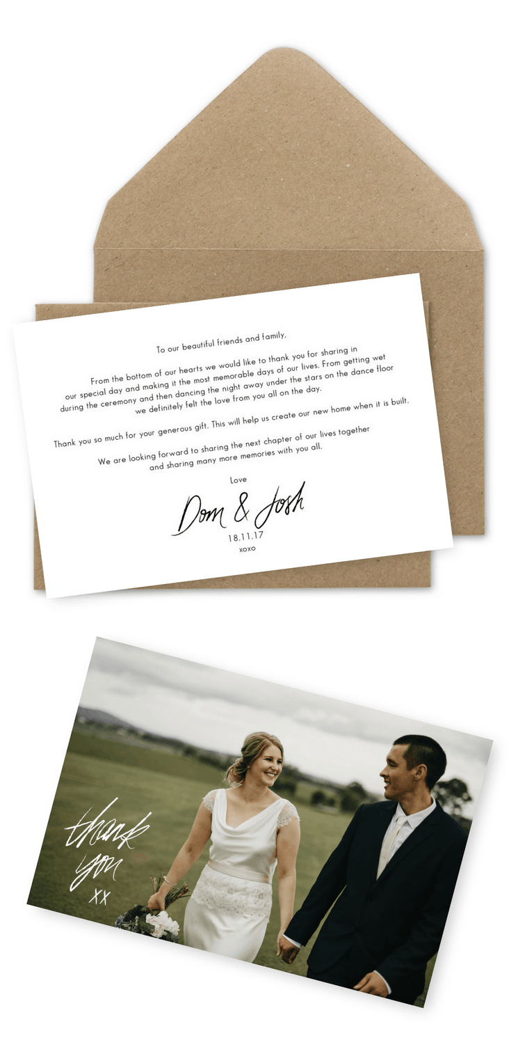 Wedding Thank You Card Wording Examples How To Write A Thank You Note Keegan Cronin Photography For the Love of Stationery