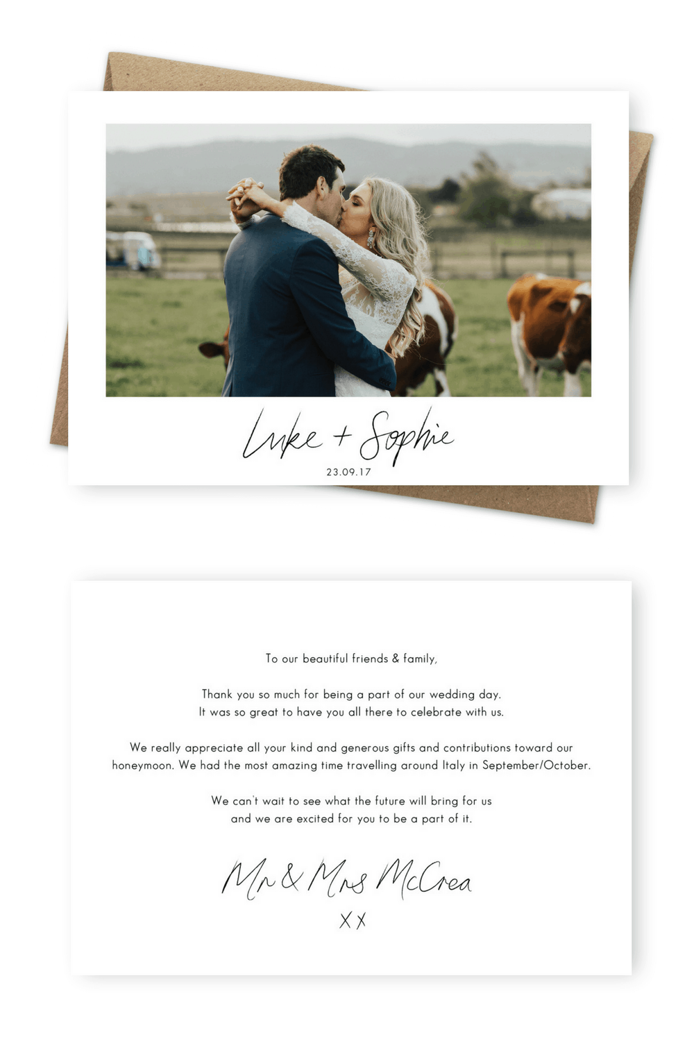 Wedding Thank You Card Wording Examples How To Write Thank You Card Message For the Love of Stationery