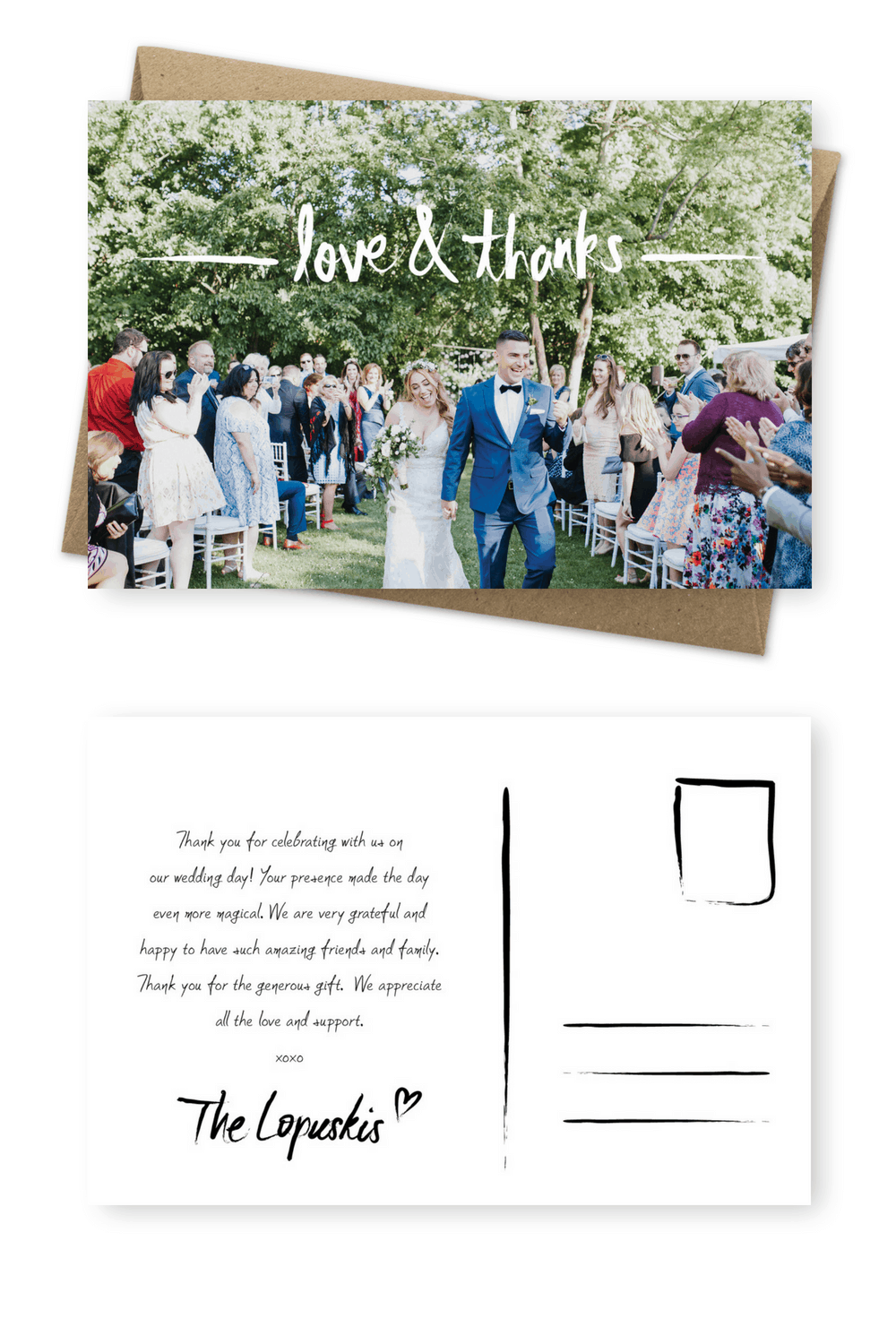 9 Wording Examples For Your Wedding Thank You Cards For The Love