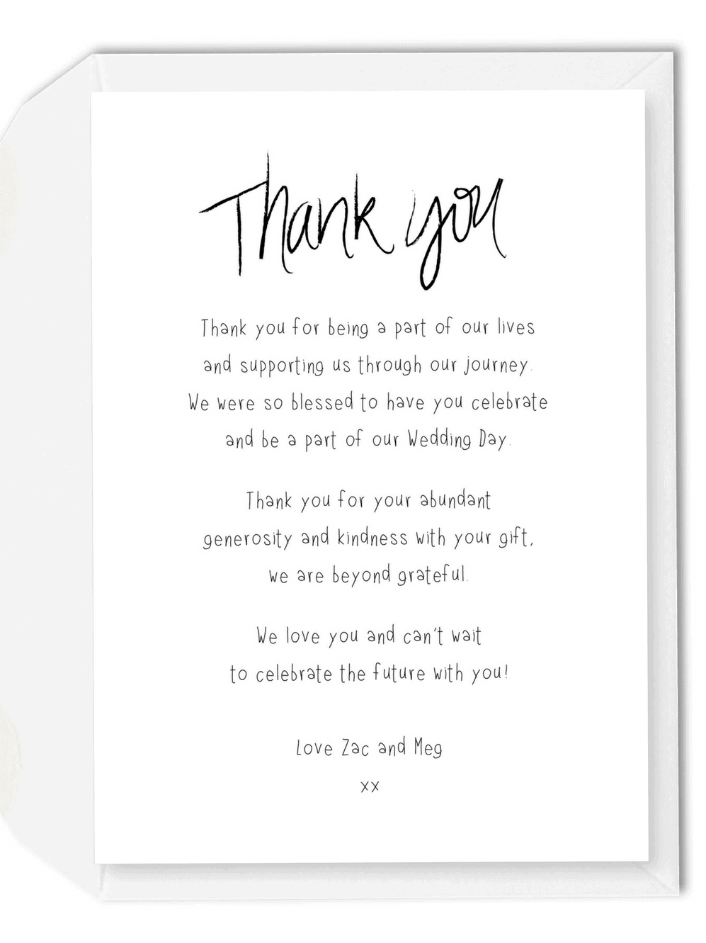 5 wording ideas for your wedding thank you cards for the for Thank you notes for wedding gifts templates