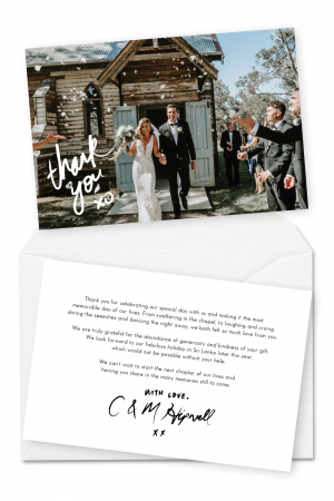 Wedding Thank You Card Wording Message Ideas Template Examples