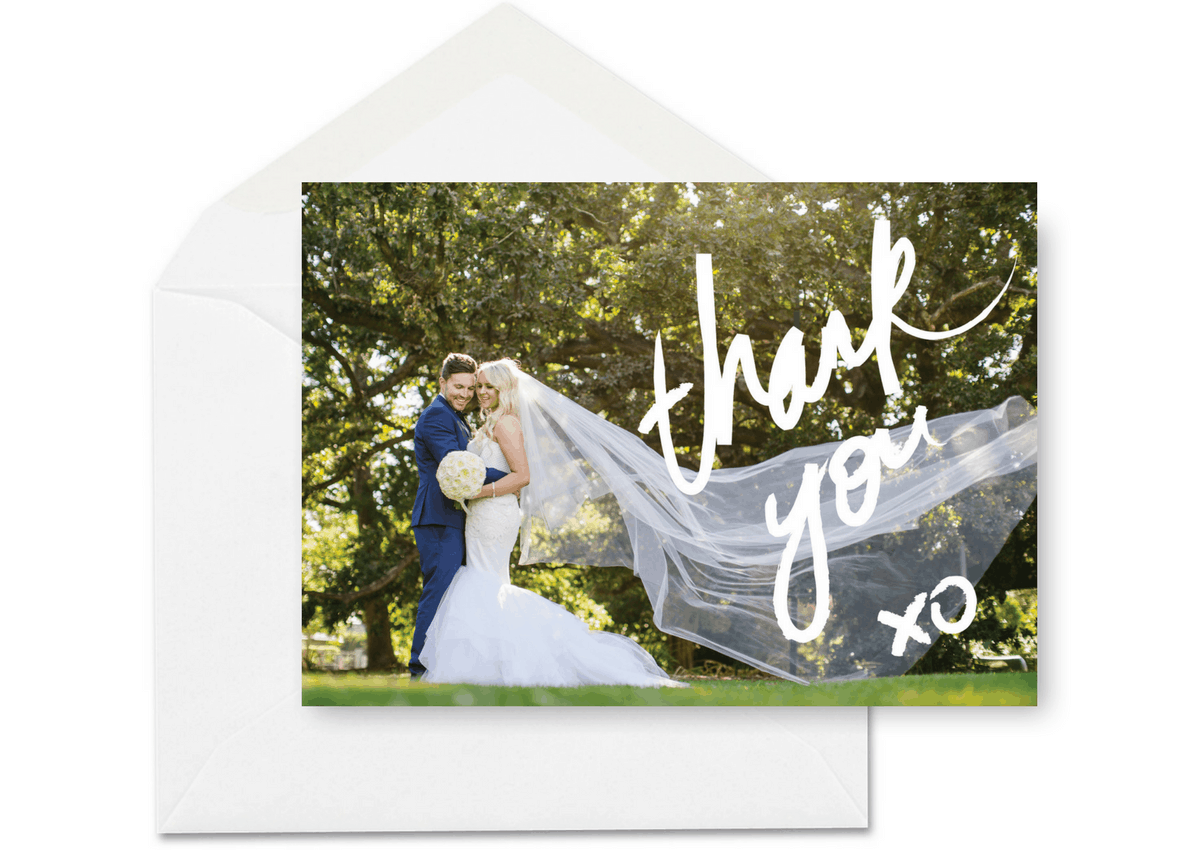 Wedding Thank You Card with Photos