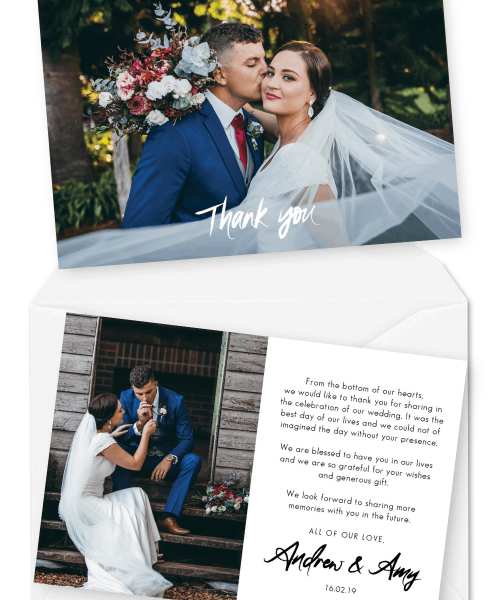 Wedding Thank You Cards Australia Wedding Thank You Cards Wording For the Love of Stationery