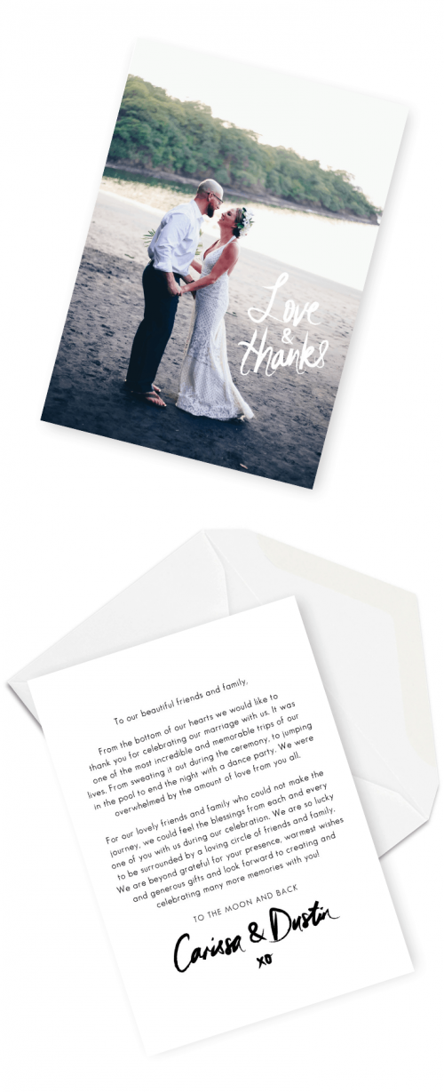 Wedding Thank You Cards Message Examples Wording Ideas for Your Wedding Thank You Cards