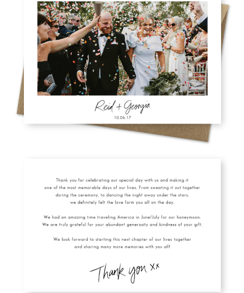 Wedding Thank You Cards Photo Sydney Australia For the Love of Stationery