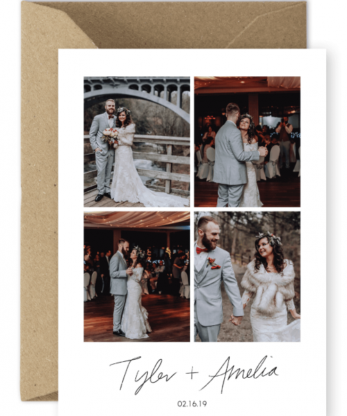 Wedding Thank You Cards Winter Destination Wedding Photos Meghan Doherty Meghan Media For the Love of Stationery