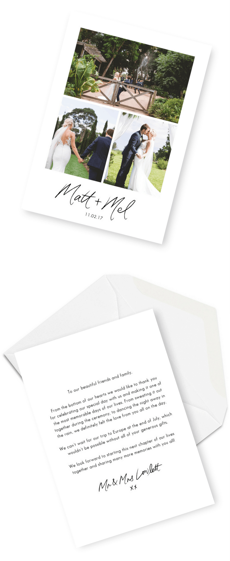 5 wording ideas for your wedding thank you cards for the love of wedding thank you cards wording inspiration 2 junglespirit Gallery