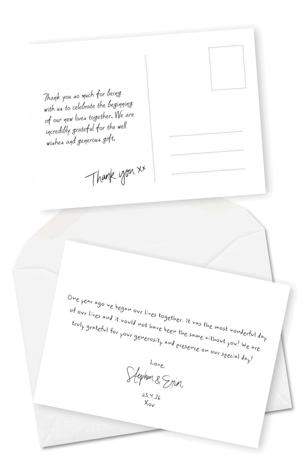 wedding thank you cards wording inspiration