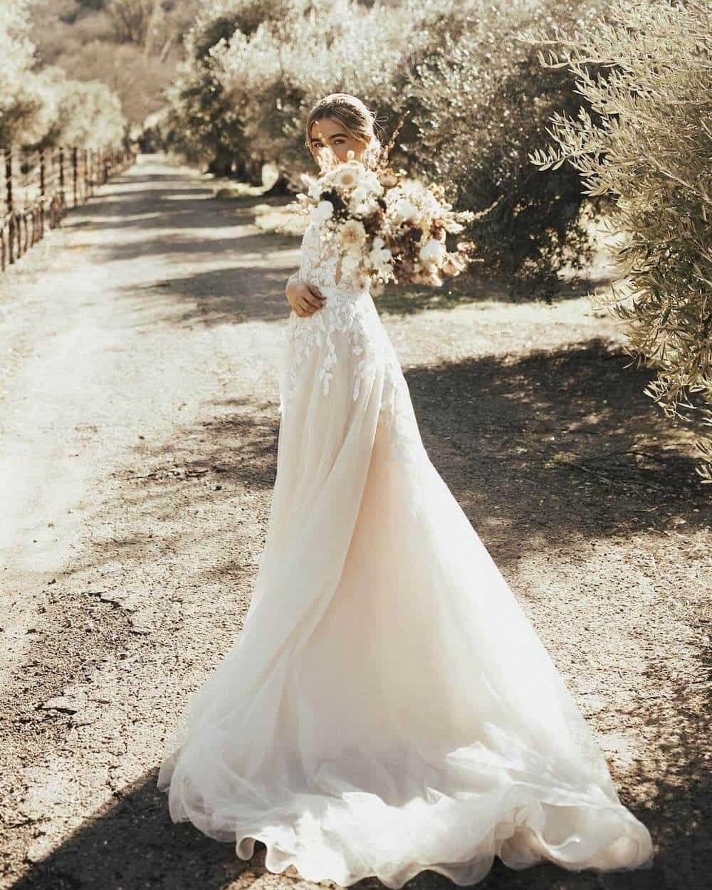 What to Wear When You Elope Carmel Gown BHLDN Christy Johnston Photography