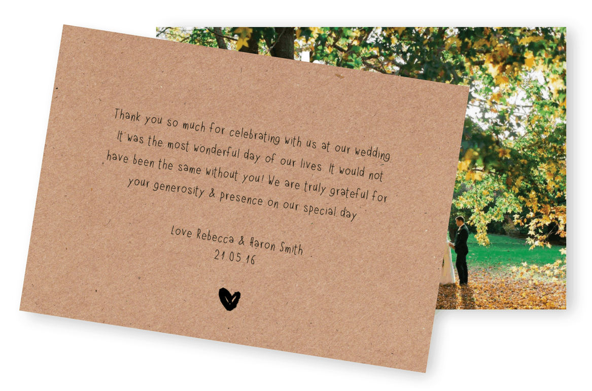 5 Wording Ideas For Your Wedding Thank You Cards